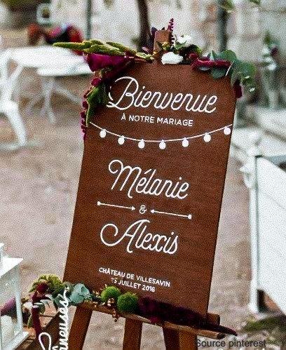 Stickers Panneau de Bienvenue