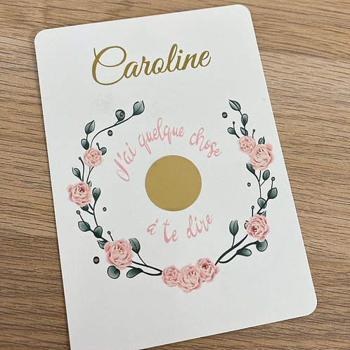 Carte à gratter Marraine