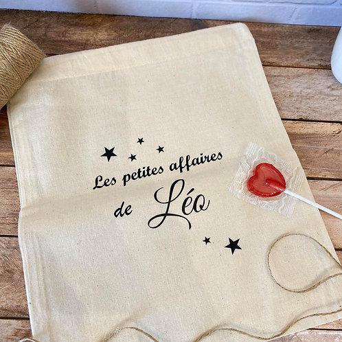 """Pochon """"Les petites affaires de Léo"""""""