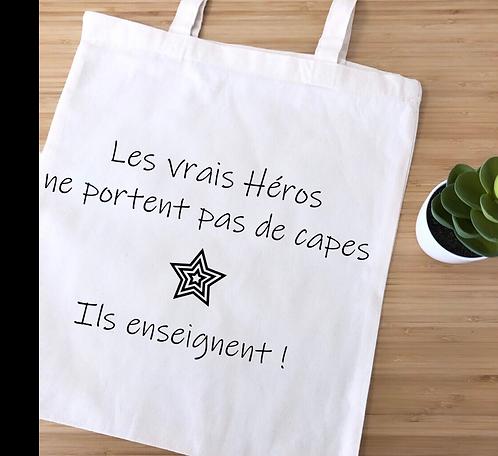 "Tote bag ""héros"""