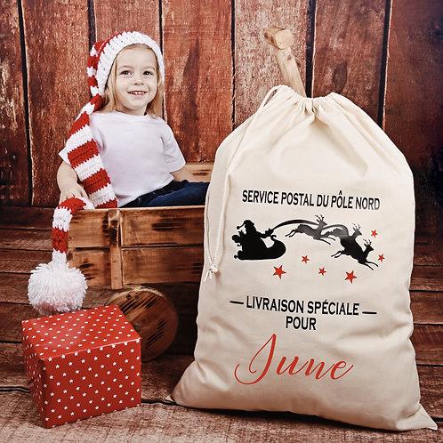 Hotte de Noël personnalisée - traineau