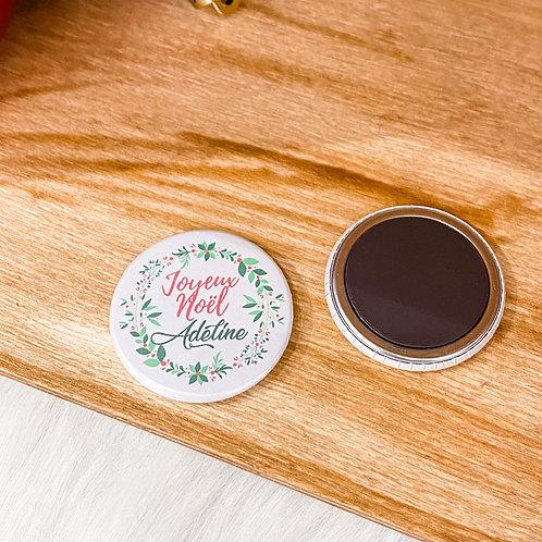 Badge ou Magnet - Joyeux Noël + Prénom
