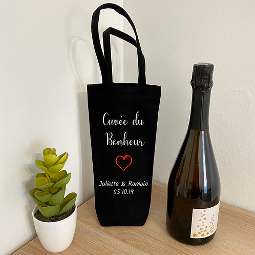 """Sac à bouteille - """"Cuvée du bonheur"""""""