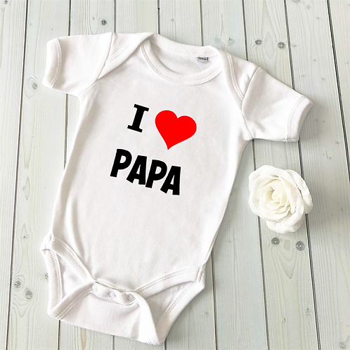 "Body ""I love Papa"" 18 mois"