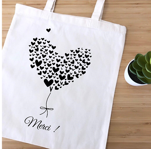 "Tote bag ""Merci !"""