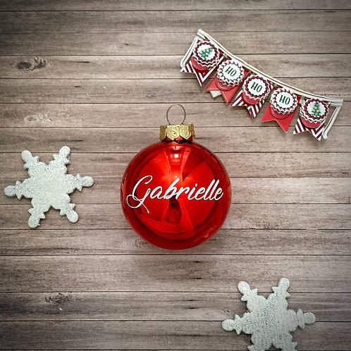 Boule de Noël rouge Brillante