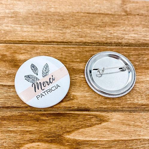 Badge ou Magnet - Merci + Prénom