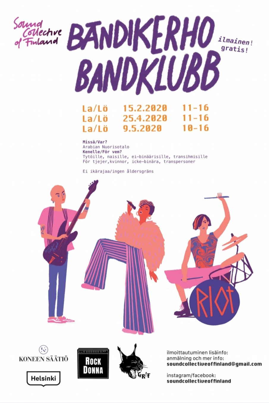 Bandklubb i Helsingfors för alla åldrar!