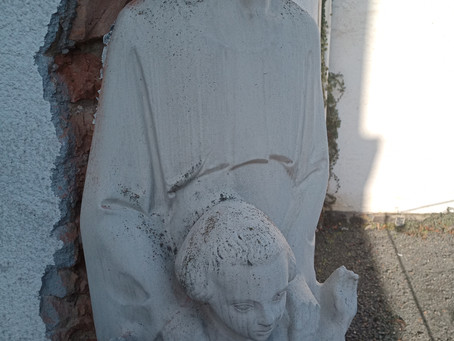 Abbau Statue Bad Honnef