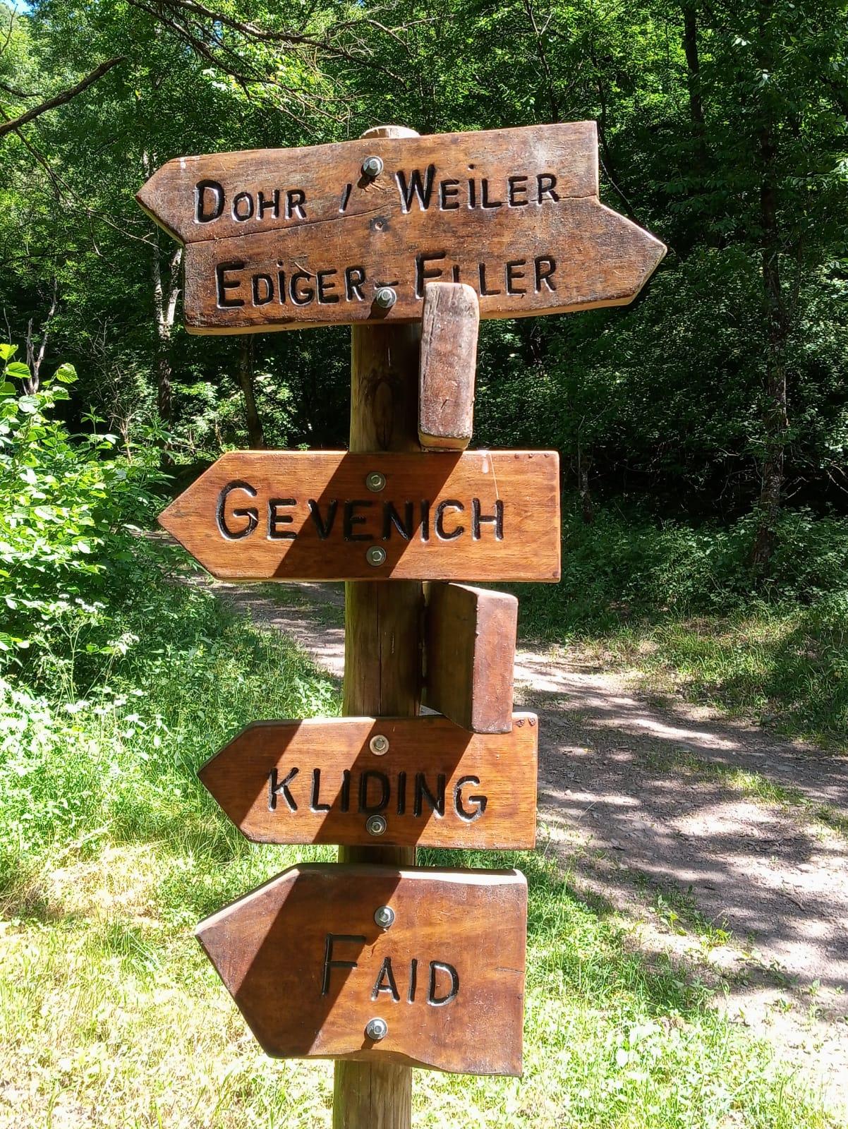 Wanderschilder Ellerbachtal
