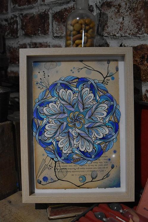 Peinture sous cadre