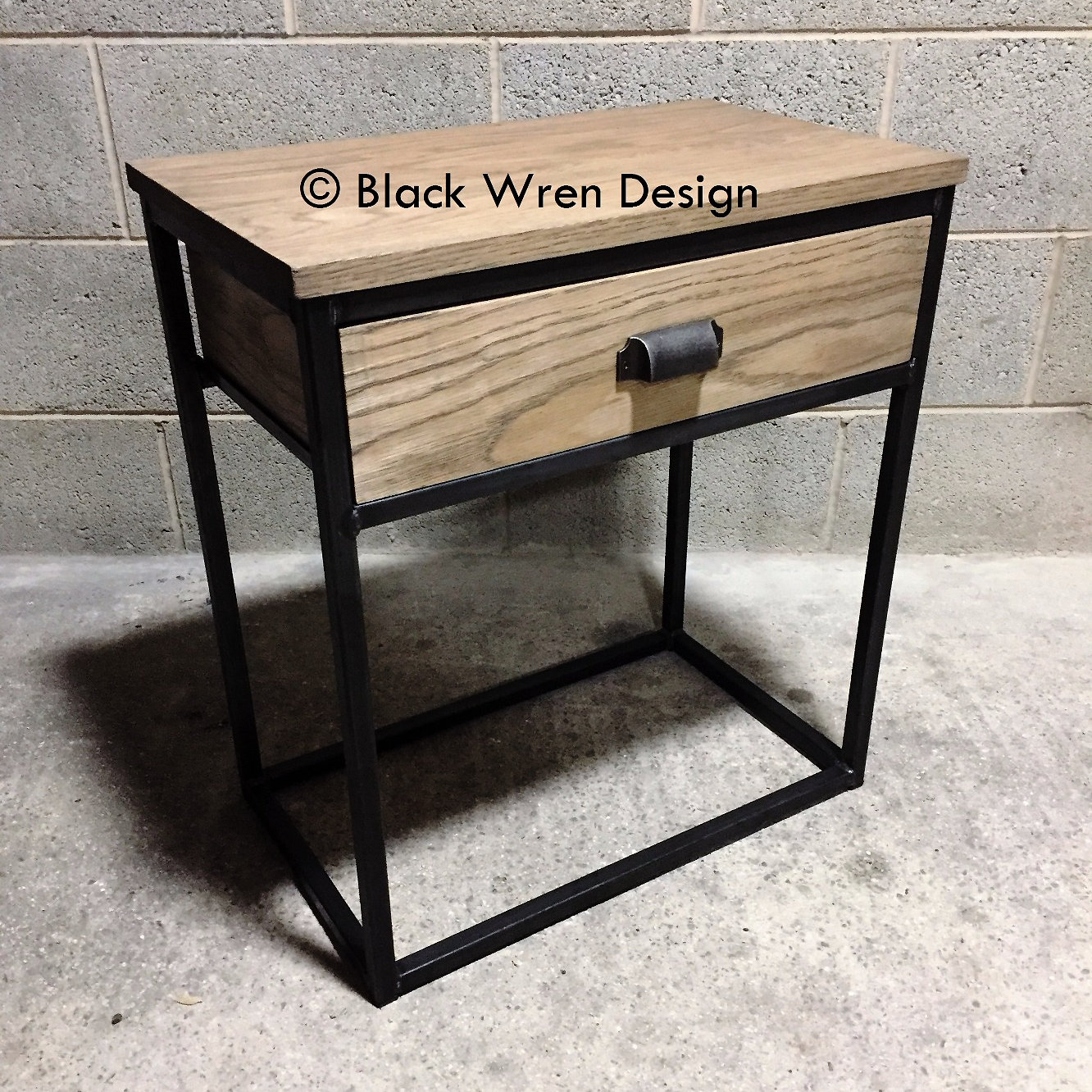 contemporary industrial retro furniture bar stools chairs tables  - dusk mini consoleside table industrial style
