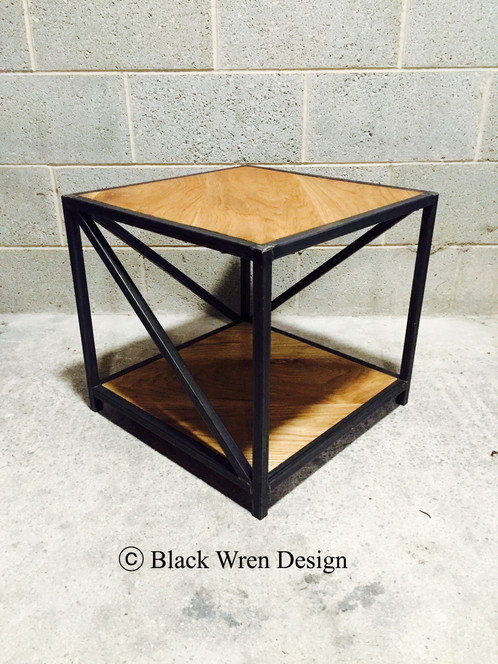 A Stylish Contemporary Retro Low Side Table Made With Welded Box Section  Steel And Oiled Top. Ideal To Be Used As A Small Coffee Table, Lamp Table  Or Side ...