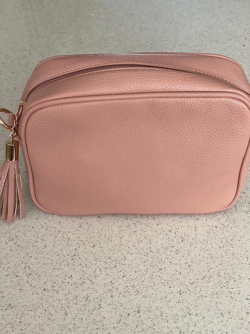Single Zip Cross Body Bag - Pink