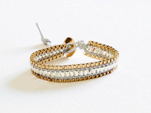 Metallic Embellished Friendship Bracelet