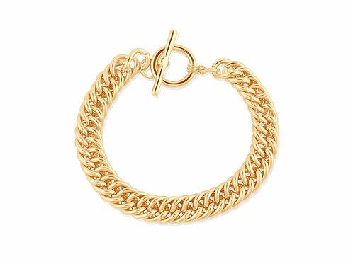 Curb Chain Statement T-Bar Bracelet