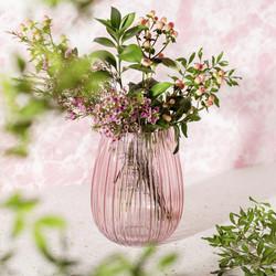 GLEE057 Fluted Glass Vase Pink