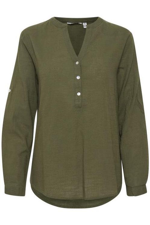 B.Young BYHenri Long Sleeve Shirt - Olive