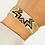 Thumbnail: Woven Bead Bracelet Gold with Stars