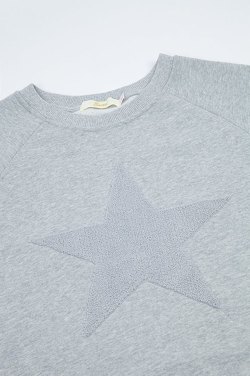 Star Sweatshirt Light Grey