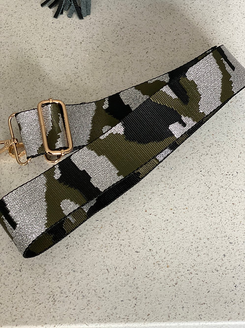 Bag Strap - Silver / Khaki Camo