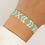 Thumbnail: Woven Beaded Bracelet Aqua / Gold