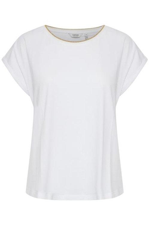 B.Young BYSianni Rib T Shirt White
