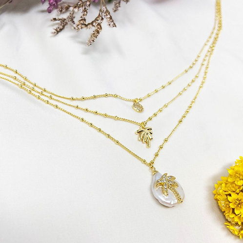 3 Row Palm Necklace