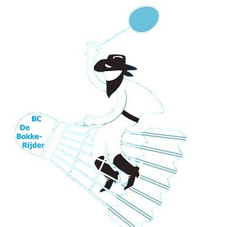 logo Club BC De Bokkerijder  badminton c