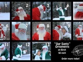 Santa Ornaments a Huge Hit