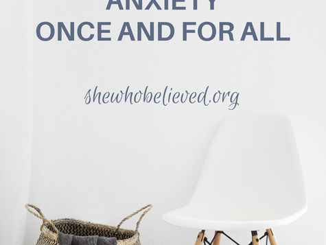 Anxiety-how to overcome once and for all