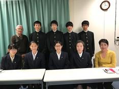千葉県立国府台高校の生徒さんが来局されました