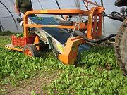 Zaļo lapu salātu kombains