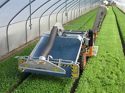 Zaļo lapu salātu novākšanas kombains