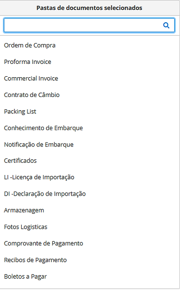 seleciornar-documentos-docomercio-exterior-desejado
