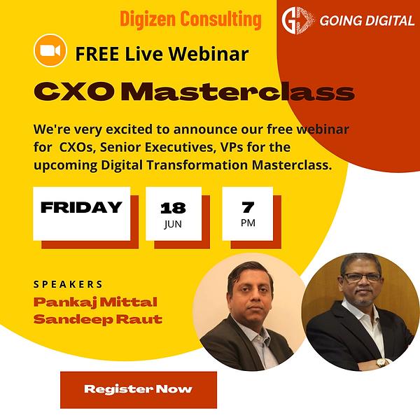 Free Webinar - CXO Masterclass