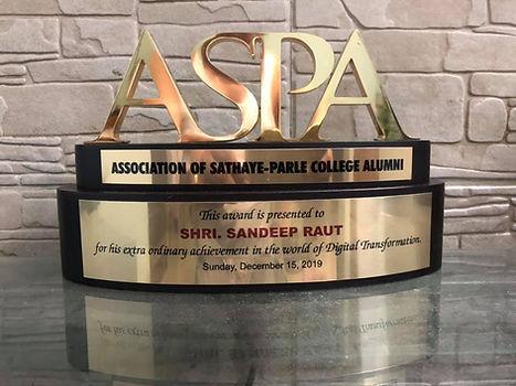 Award presented by ASPA