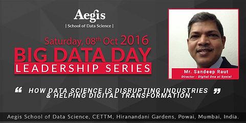 Big Data Leadership series at Aegis School of Data Science