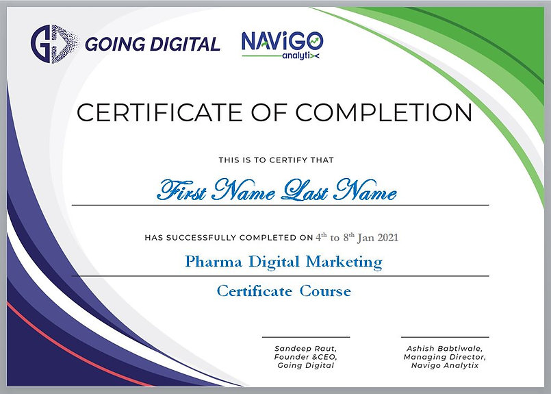 Pharma Digital Marketing Certificate Cou