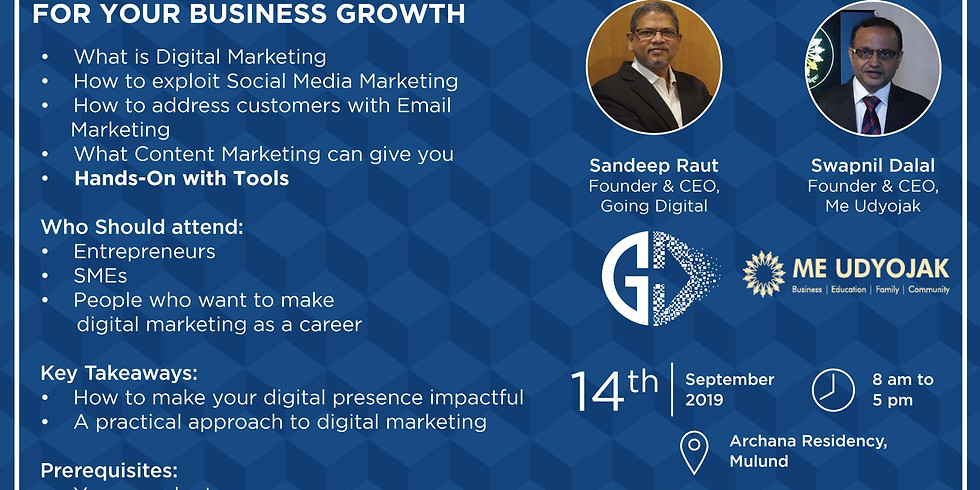 Digital Marketing Workshop With Me Udyojak