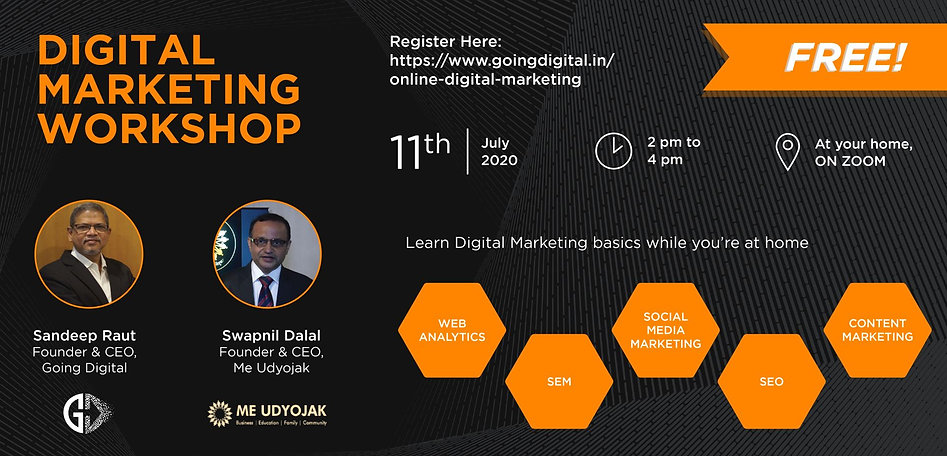 Online Digital Marketing Webinar by Goin