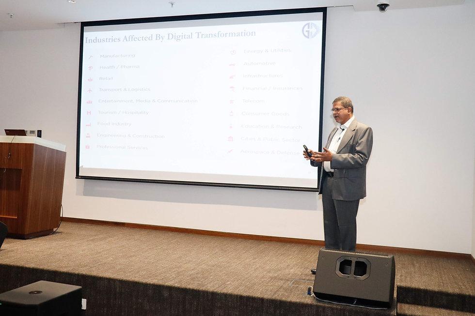 Sandeep Raut speaking at Digital Transformation summit