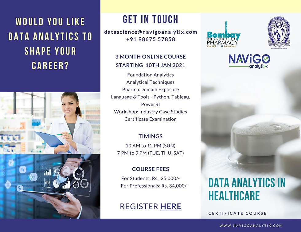 Data Analytics Certificate Course Flyer