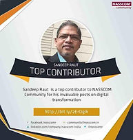 Award from Nasscom community for top contribution on digial transformatio