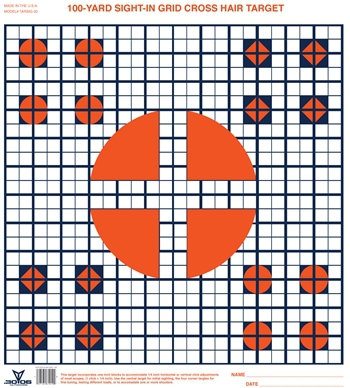 Sight-In Paper Targets (Grid)