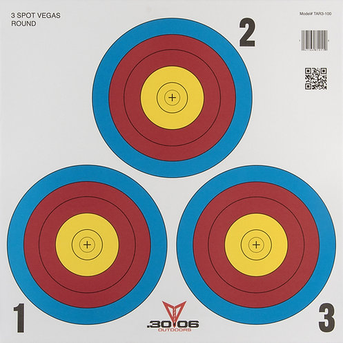 Official-Sized Paper Target | 3-Spot Vegas