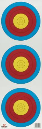 3-Spot Vertical Paper Target
