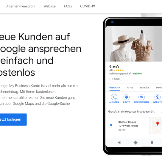 Google My Business - Unternehmen hinzufügen und verwalten