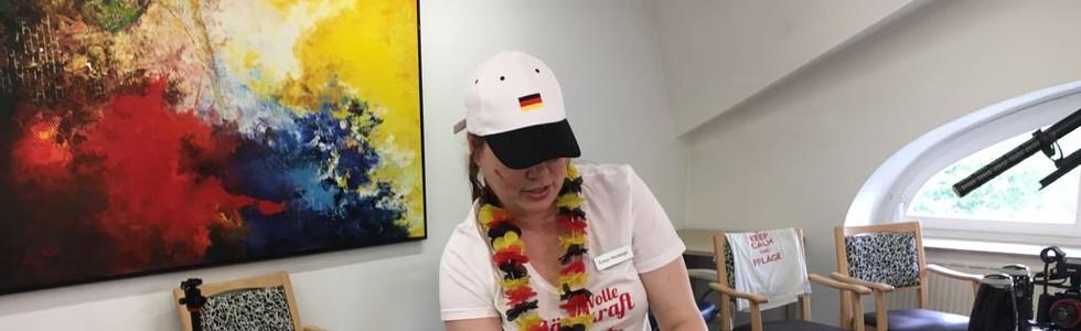 Evelyn bei der WM