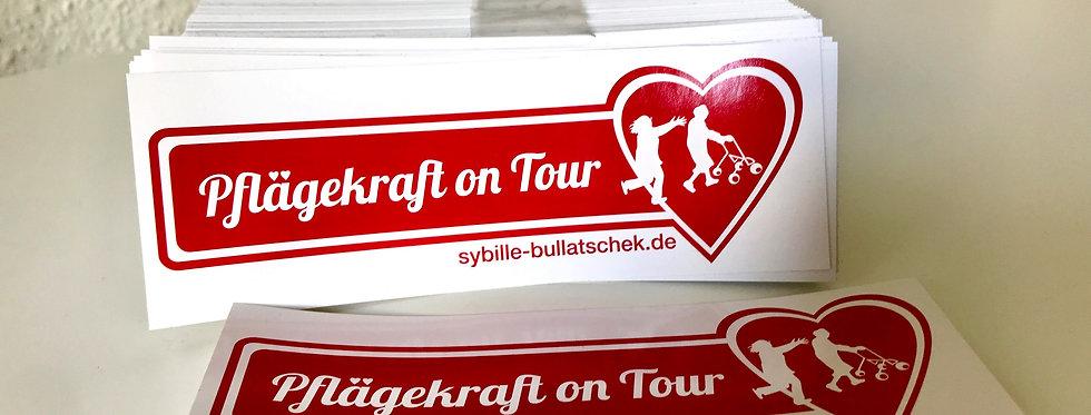 """Aufkleber """"Pflägekraft on Tour!"""""""